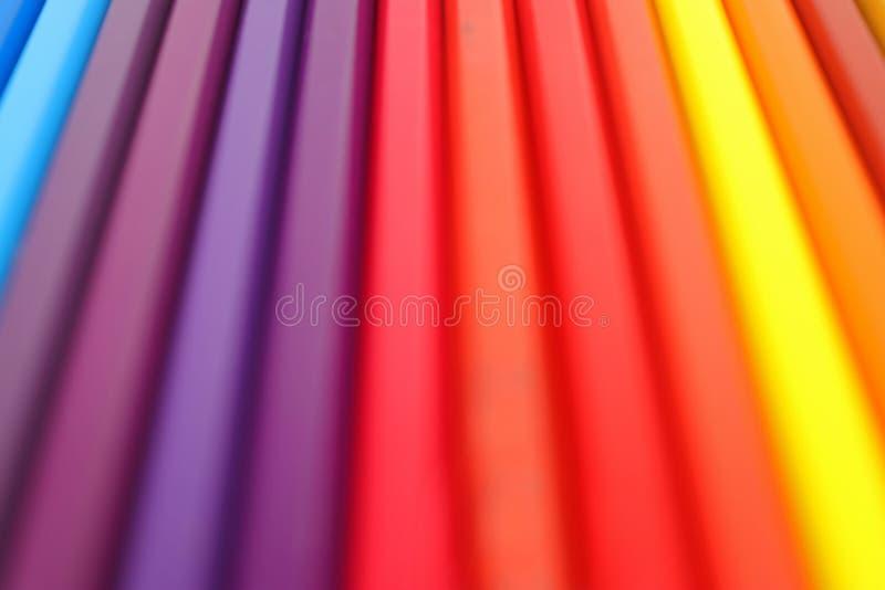 Tekstura kolorowy tło od kreskowych ołówków zdjęcia royalty free