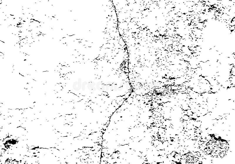Tekstura krakingowa ściana z starym tynkiem Zakłopotany wektorowy tło royalty ilustracja