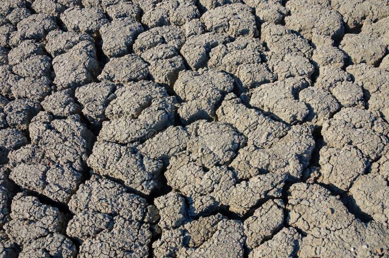 Tekstura krakingowa ziemia, kataklizm susza obrazy stock