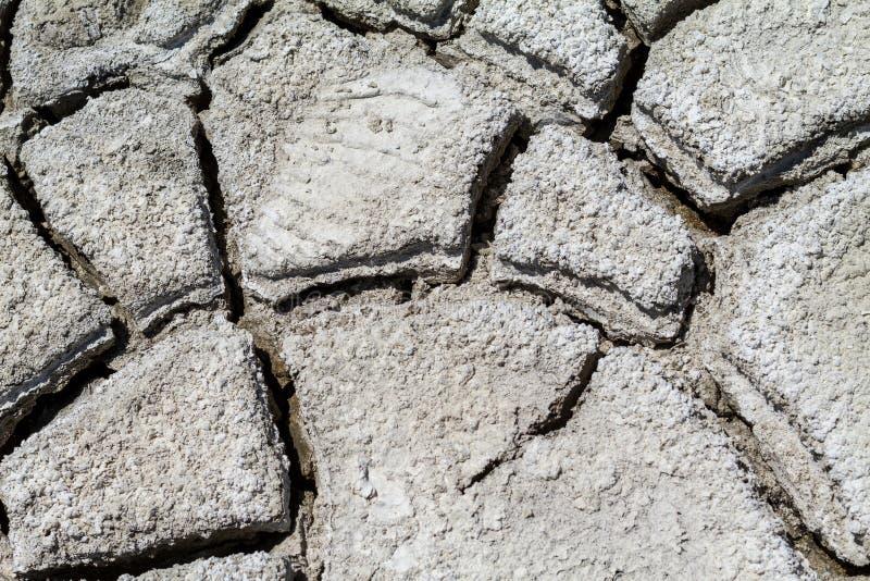 Tekstura krakingowa ziemia, kataklizm susza zdjęcie royalty free