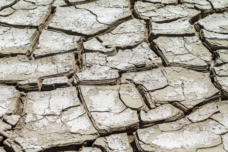 Tekstura krakingowa ziemia, kataklizm susza obraz stock