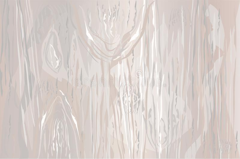 Tekstura lekka drewniana skorupa jako naturalny tło wektor Emp royalty ilustracja