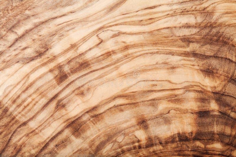 Tekstura lub wzór oliwna drewno deska Naturalny tło obrazy stock