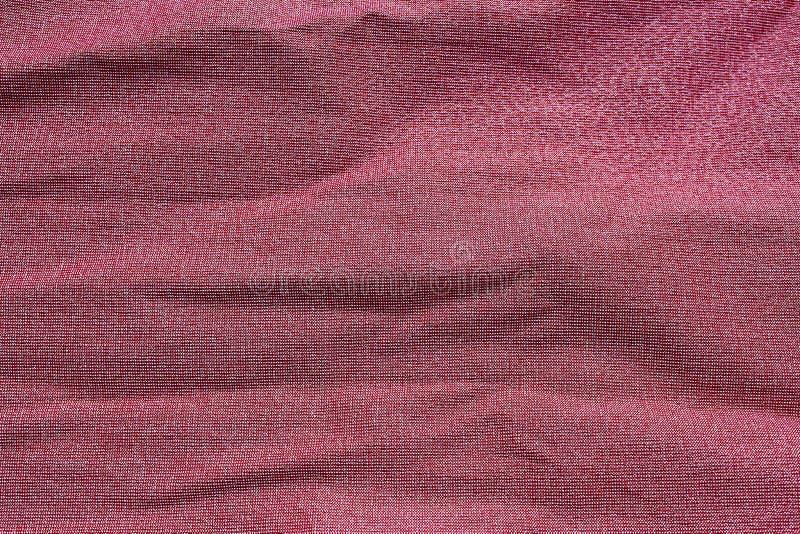 Tekstura marszczący tkanina zmroku menchii kolor obraz royalty free