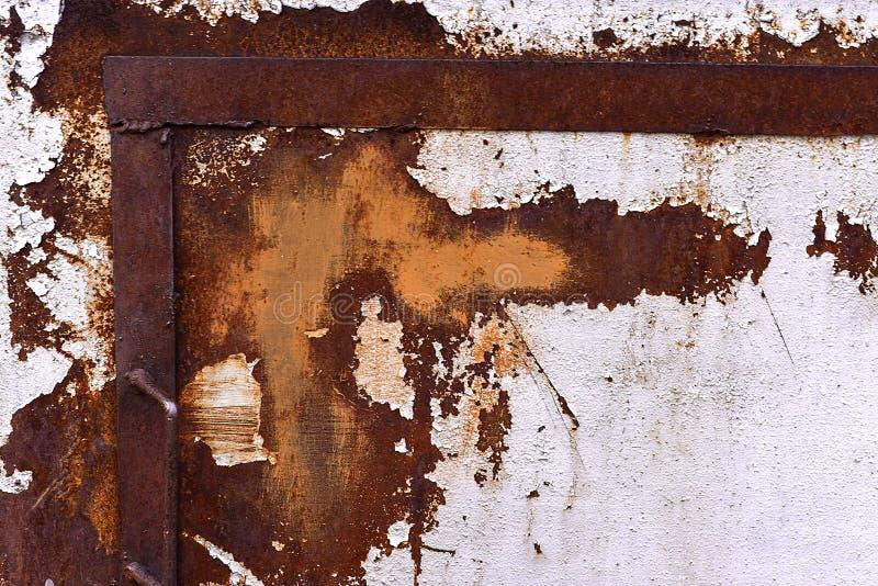 Tekstura metali drzwi zdjęcie royalty free