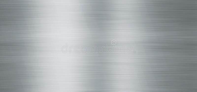 Tekstura metalu aluminium lub stali tło 2 ilustracja wektor