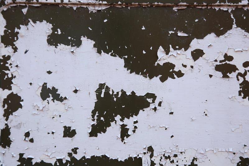 Tekstura metalu powierzchnia z krakingową farbą fotografia stock
