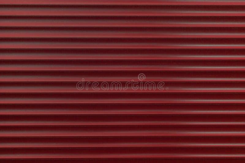 Tekstura metalu rolownik różni kolory Tło żelazne story Ochronne rolownik żaluzje dla wejściowego drzwi fotografia stock