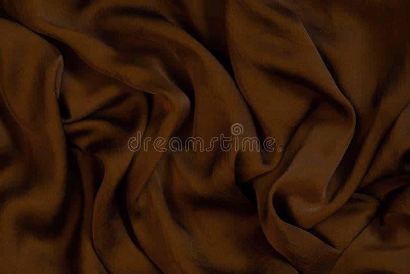 Tekstura miękki i błyszczący czekoladowy jedwab obraz royalty free