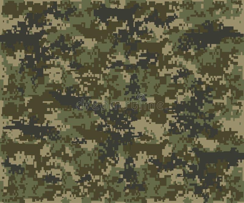 Tekstura militarny kamuflaż powtarza bezszwowego wojska zdjęcia royalty free