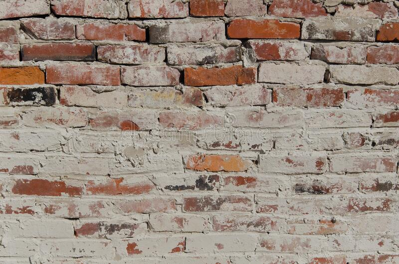 Tekstura muru z cegły czerwonej zdjęcia stock