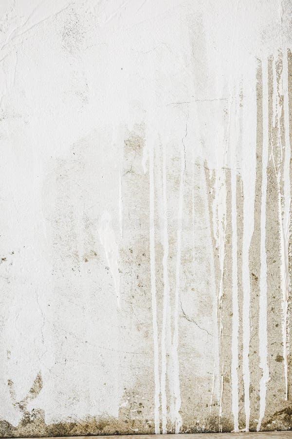 Tekstura na ściennym bielu betonie zdjęcie royalty free
