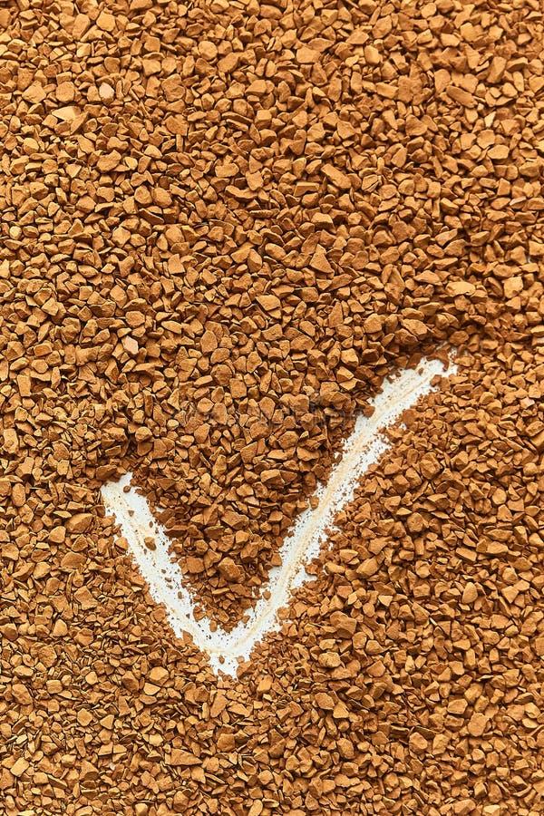 Tekstura natychmiastowa kawa świetne granule, dobry rezultat obraz royalty free
