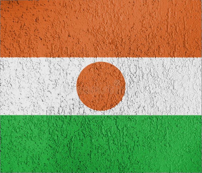 Tekstura Niger flaga fotografia stock