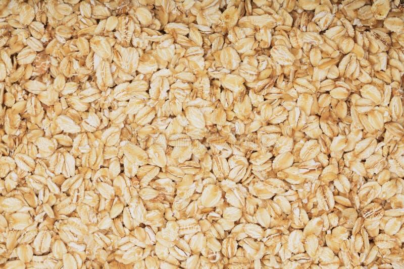 Tekstura oatmeal jako tło Odgórny widok obrazy stock