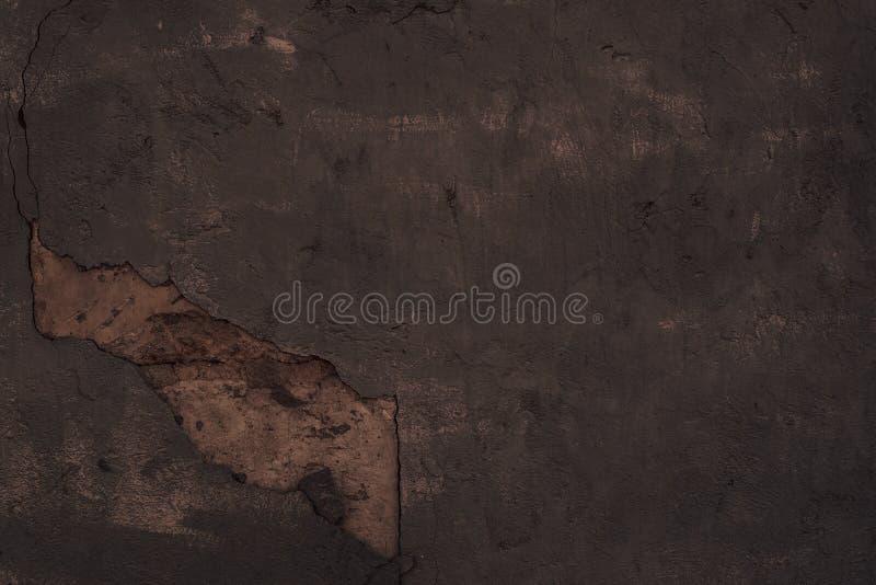Tekstura obdrapany zmrok - szary dekoracyjny tynk projekt abstrakcyjne t?o obraz stock