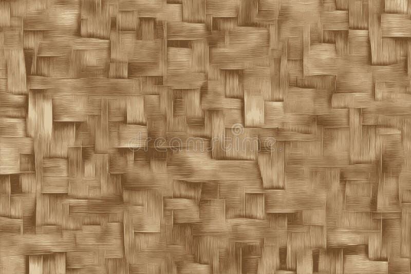 Tekstura odrewniały trzonu lub bambusa kosz w Asia royalty ilustracja