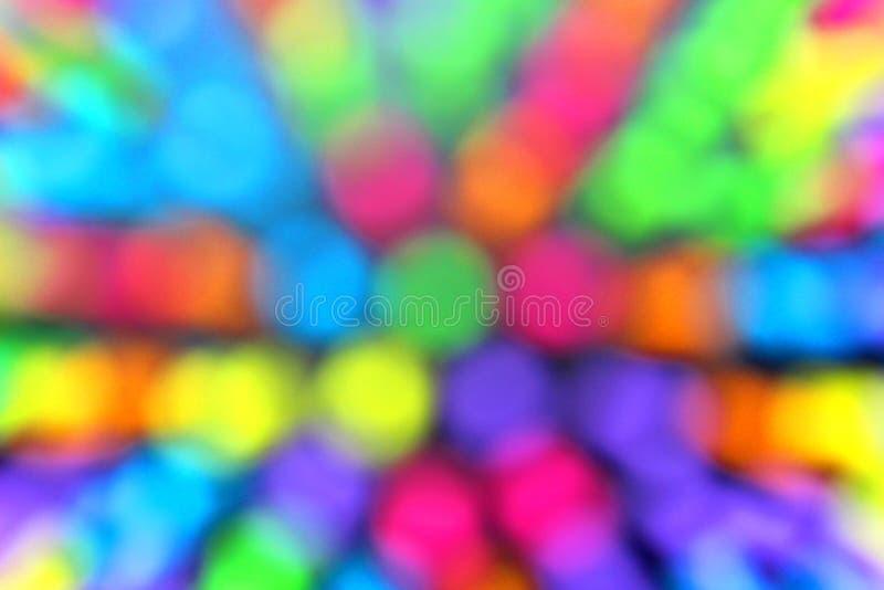 Tekstura okregów stubarwnego zamazanego tła jaskrawi kolory zdjęcia stock