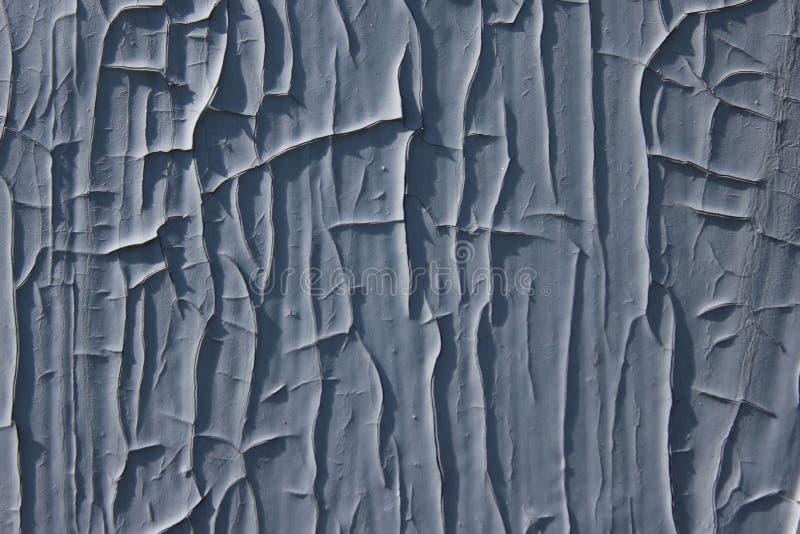 Tekstura pękał starego zmrok - szary metalu tło fotografia royalty free