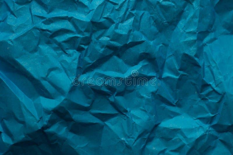 Tekstura pergamin mashed papier niebieska tła obrazy royalty free