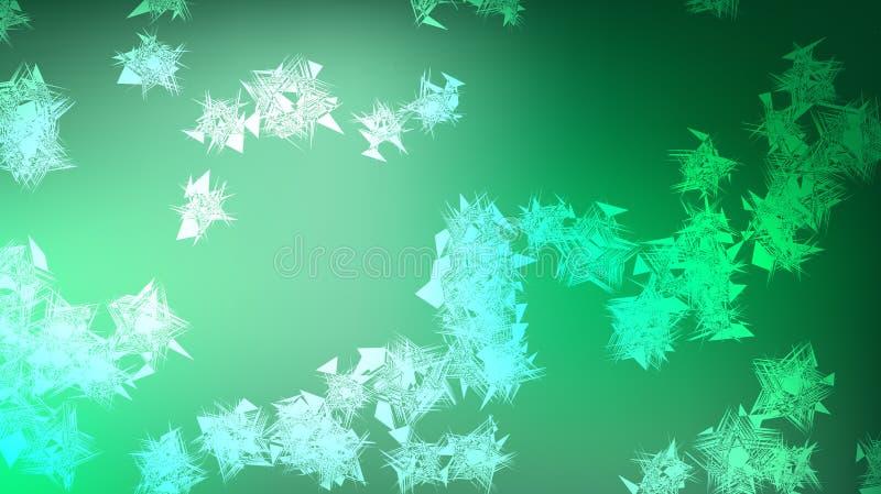 Tekstura piękny świąteczny poligonalny kółkowy pozaziemski magiczny barwię barwiony daleki jaskrawy - zielony żyłkowany wiruje ge ilustracji