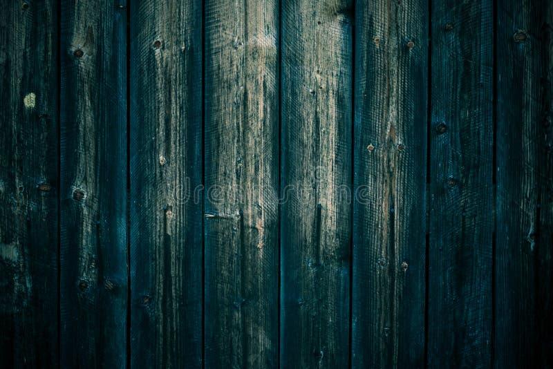 Tekstura podławe ciemnozielone deski Dębowy rocznika stół Czarny zielony drewniany deski tło Ciemnozielony brudny drewniany ogrod zdjęcia royalty free