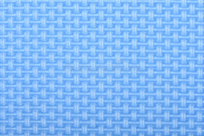 Tekstura polietylenu połysku gym błękitna mata Joga matuje teksturę fotografia stock