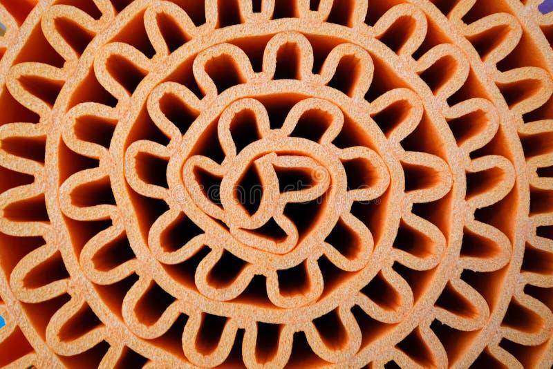 Tekstura pomarańcze piany prześcieradło staczający się w falowym kształcie, use jako backgr zdjęcie stock
