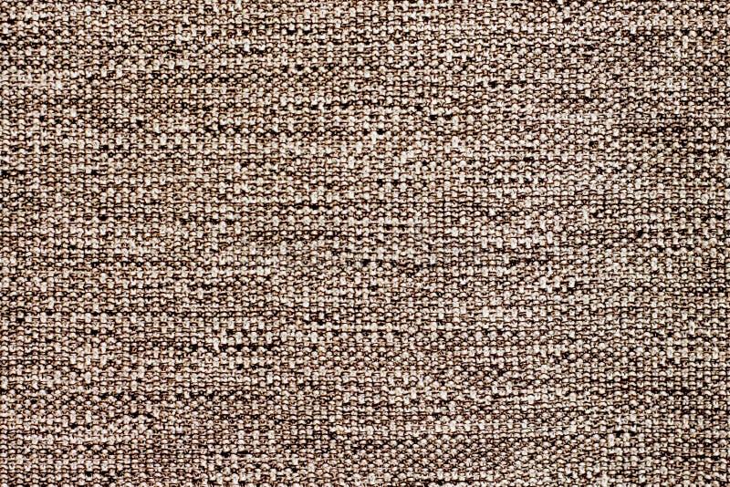 Tekstura prostacka naturalna tkanina brown kolor dla design_ zdjęcie stock