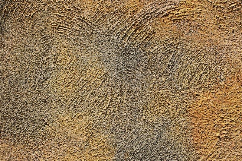 Tekstura prostacki tynk kolor żółty i szarość barwi na ścianie obraz stock