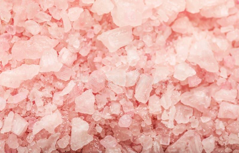 Tekstura różowa morze sól, zbliżenie obrazy royalty free