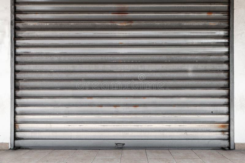 Tekstura rdzewiejąca metal rolki brama zdjęcia royalty free