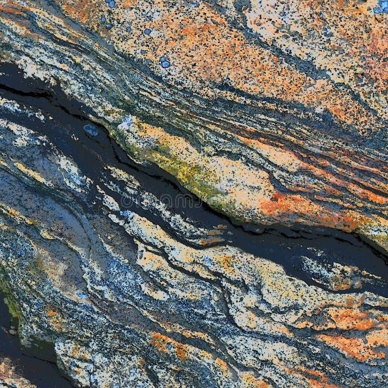 Tekstura skała Z Czerwonawym Brown Skaża obraz royalty free