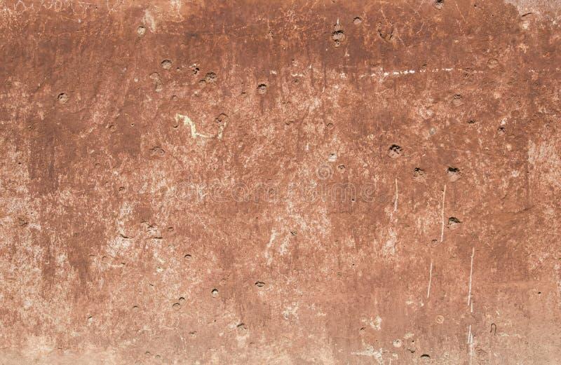 Tekstura stara czerwona betonowa ściana zdjęcia royalty free