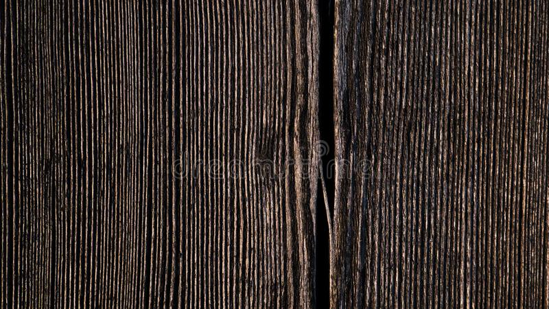 Tekstura stara drewniana deska z pęknięciem zdjęcie royalty free