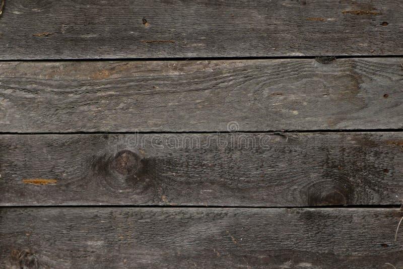 Tekstura stare popielate drewniane deski, tło obrazy royalty free