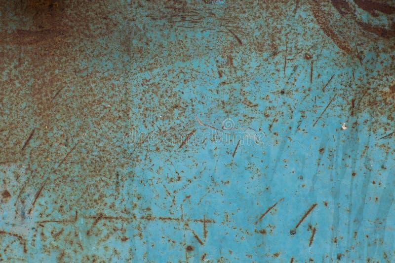 Tekstura stary błękitny metal fotografia royalty free