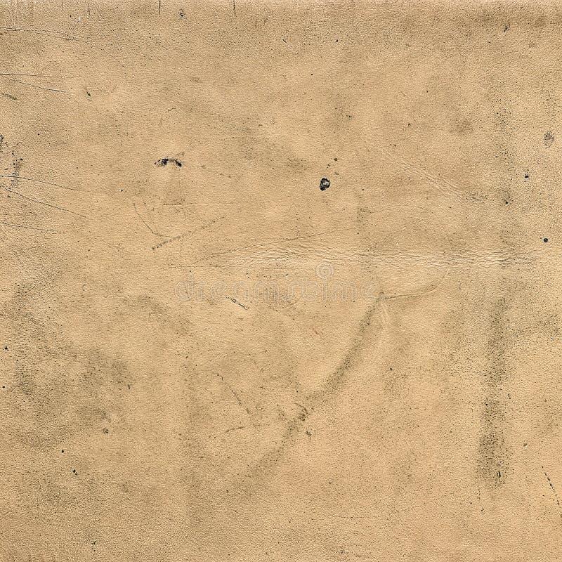 Tekstura stary beżowy skóry zakończenie up zdjęcie stock