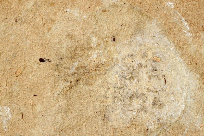 Tekstura stary pleśniowy papier z brud plamami, punkty, włączenie błonnik, brown antykwarski kartonowy tekstury tło obrazy stock