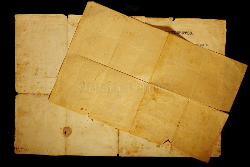 Tekstura stary rocznik yellowed papier zdjęcia royalty free