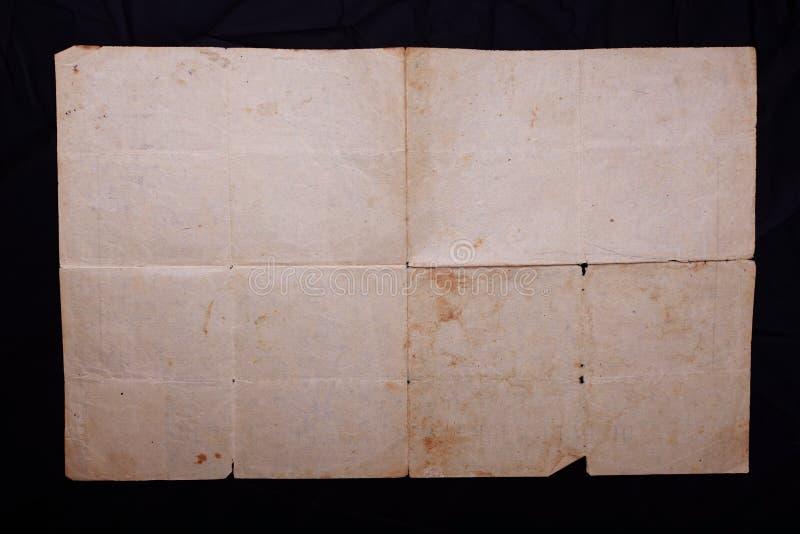 Tekstura stary rocznik yellowed papier, papiery zdjęcie stock
