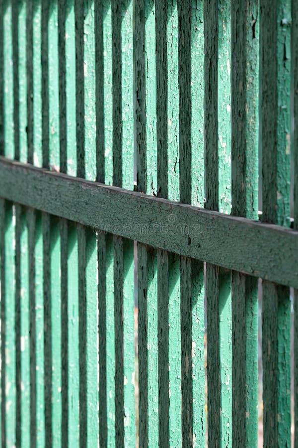 Tekstura stary zieleni ogrodzenie od ogrodzenia fotografia stock
