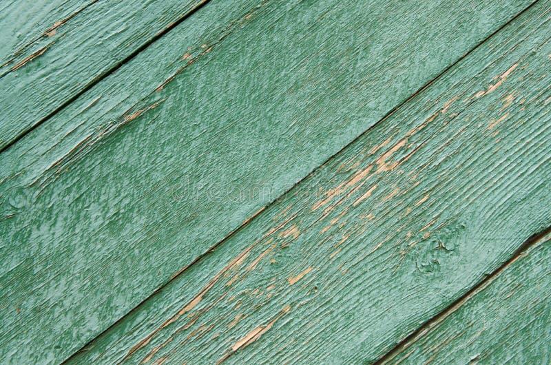 Tekstura stary zielony drewnianych desek tło obrazy stock