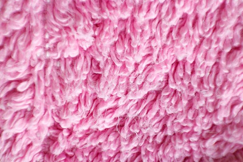 Tekstura stos różowa tkanina Makro- zbliżenie Na wh obrazy stock