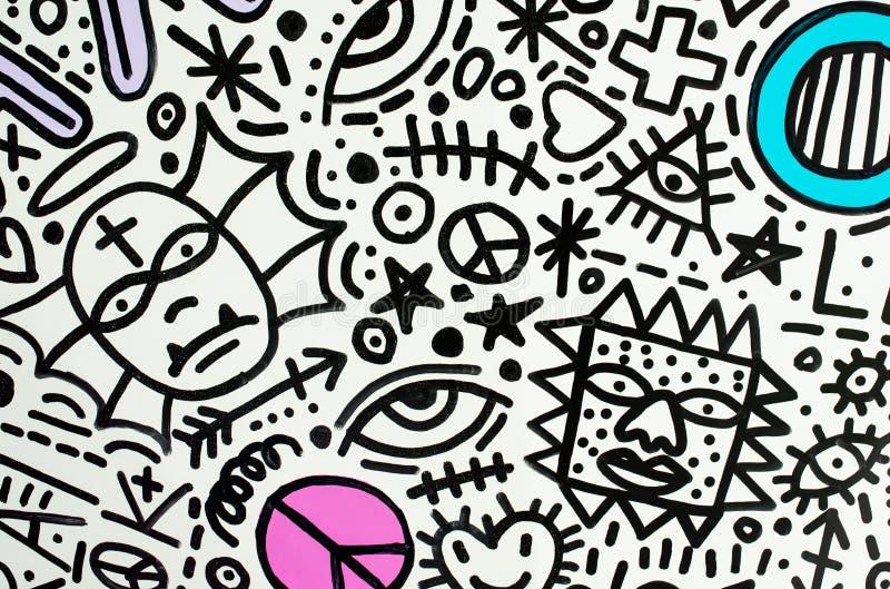 Tekstura symboli/lów deseniowy cudowne dziecko zdjęcie stock