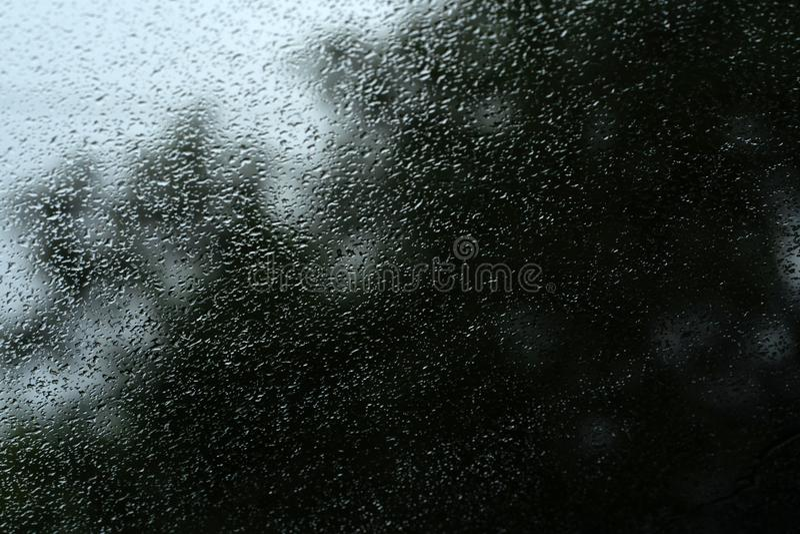 Tekstura szkło z podeszczowymi kroplami obraz royalty free
