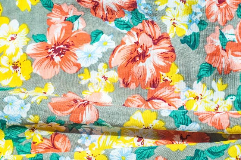 Tekstura, tło, wzór Dziewczyny spódnica Jedwabnicza tkanina z flo zdjęcie stock