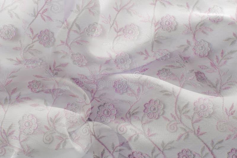 Tekstura, tło, wzór Różowa koronka na białym tle szpilka ilustracja wektor