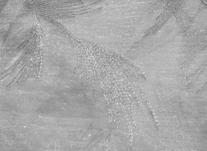 Tekstura, tło, wzór Tiul jest biały Rocznika tiulu chif fotografia stock
