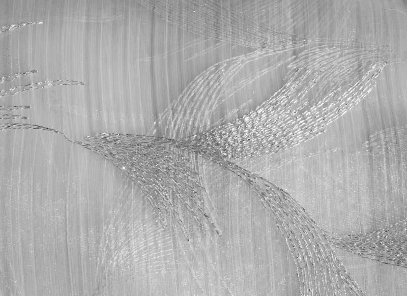 Tekstura, tło, wzór Tiul jest biały Rocznika tiulu chif zdjęcie stock